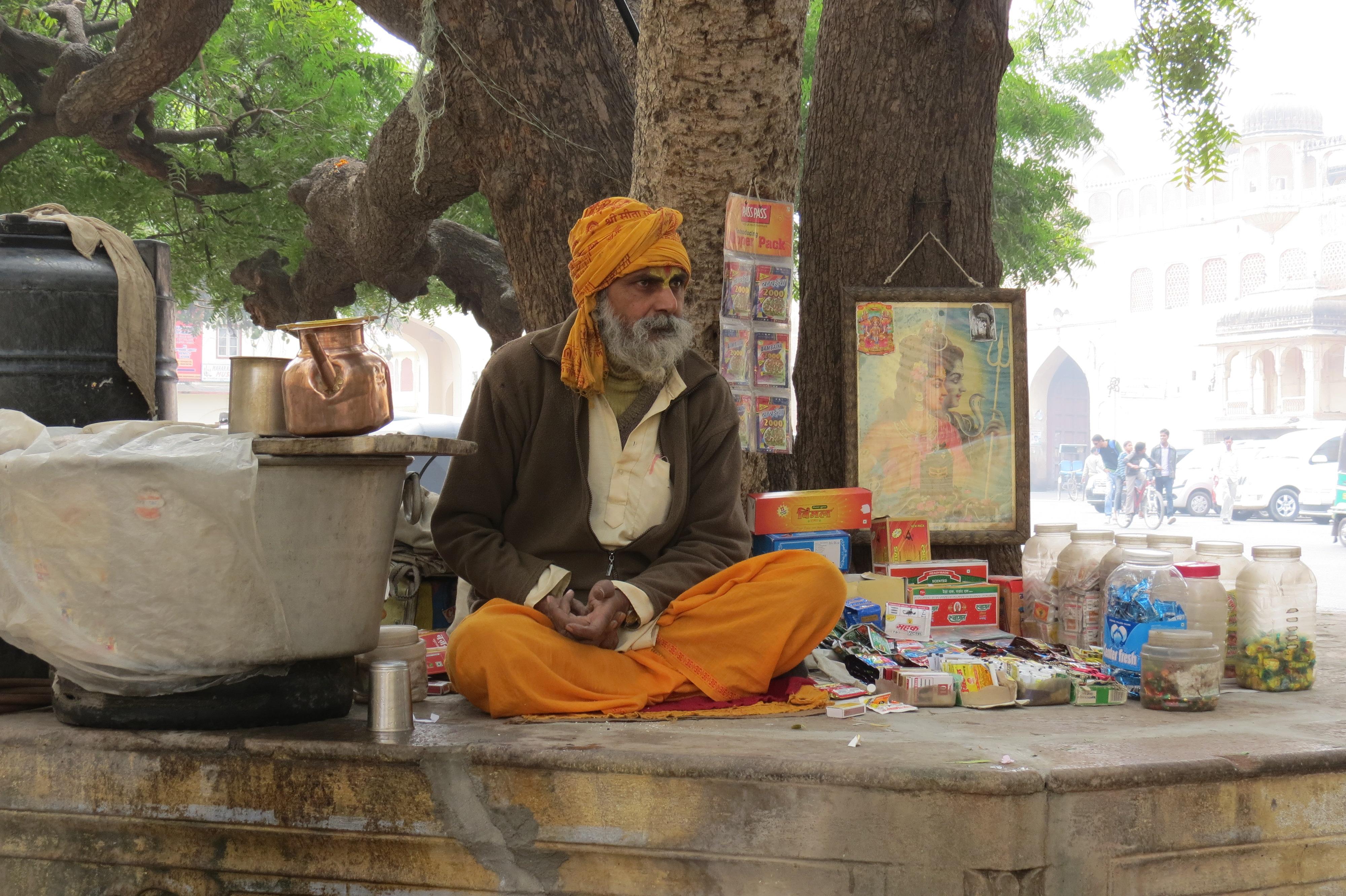Luca Errera, Daniela Trastulli, India, Rajasthan, Jaipur, venditore