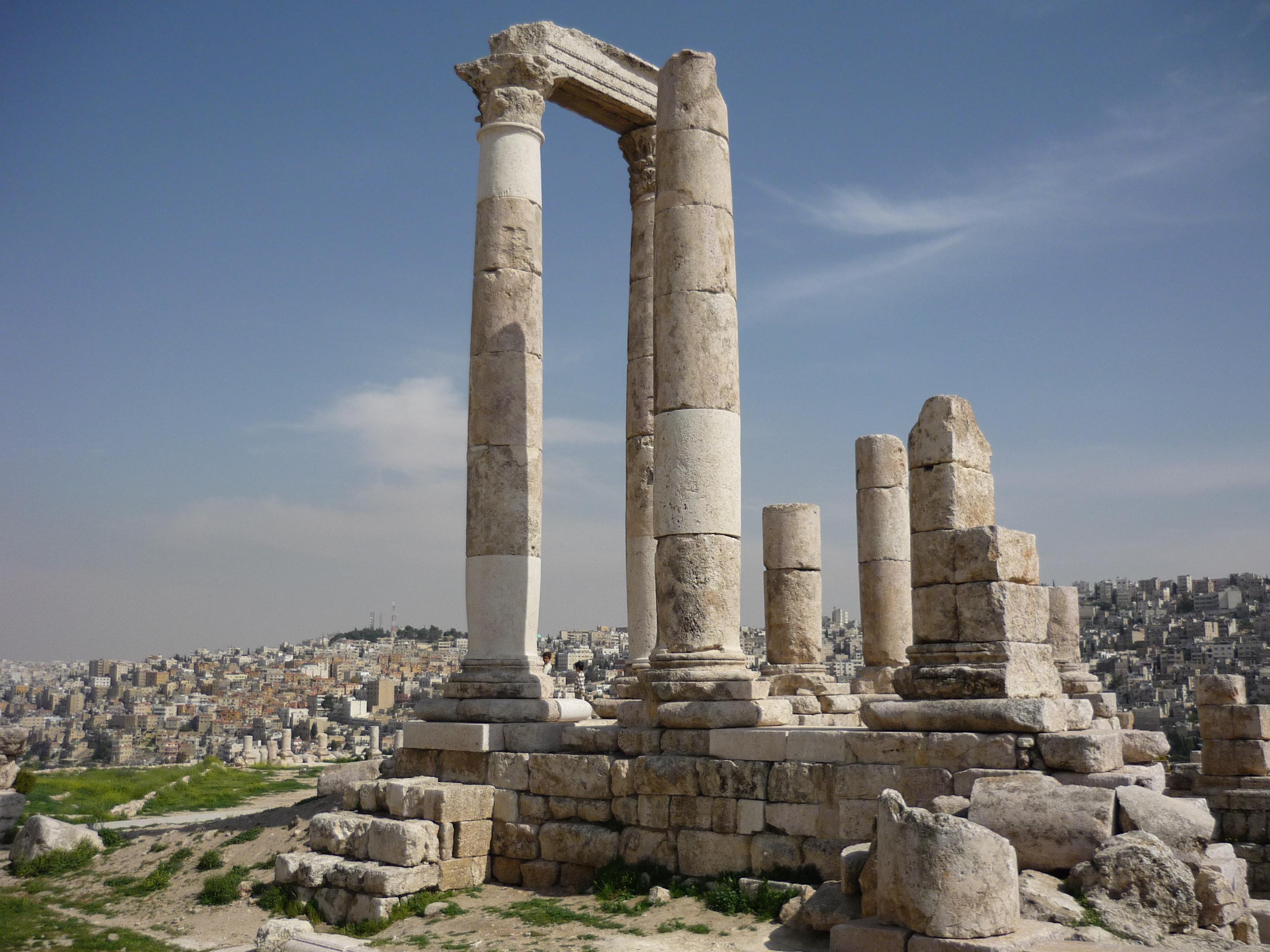 Luca Errera, Daniela Trastulli, Giordania, Amman, sito archeologico, Tempio di Ercole