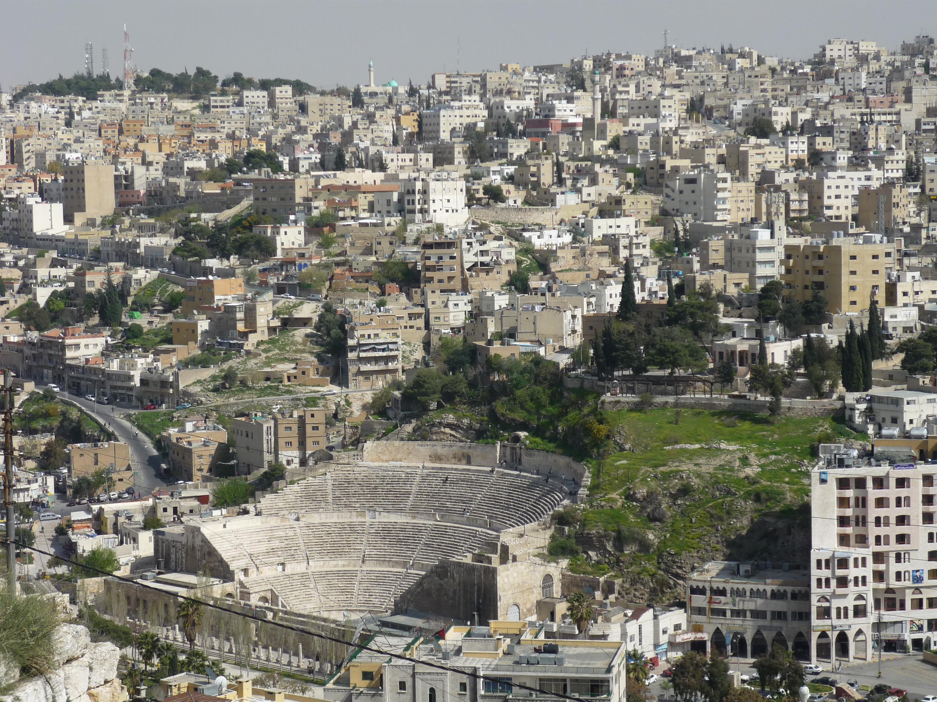 Luca Errera, Daniela Trastulli, Giordania, Amman, teatro romano
