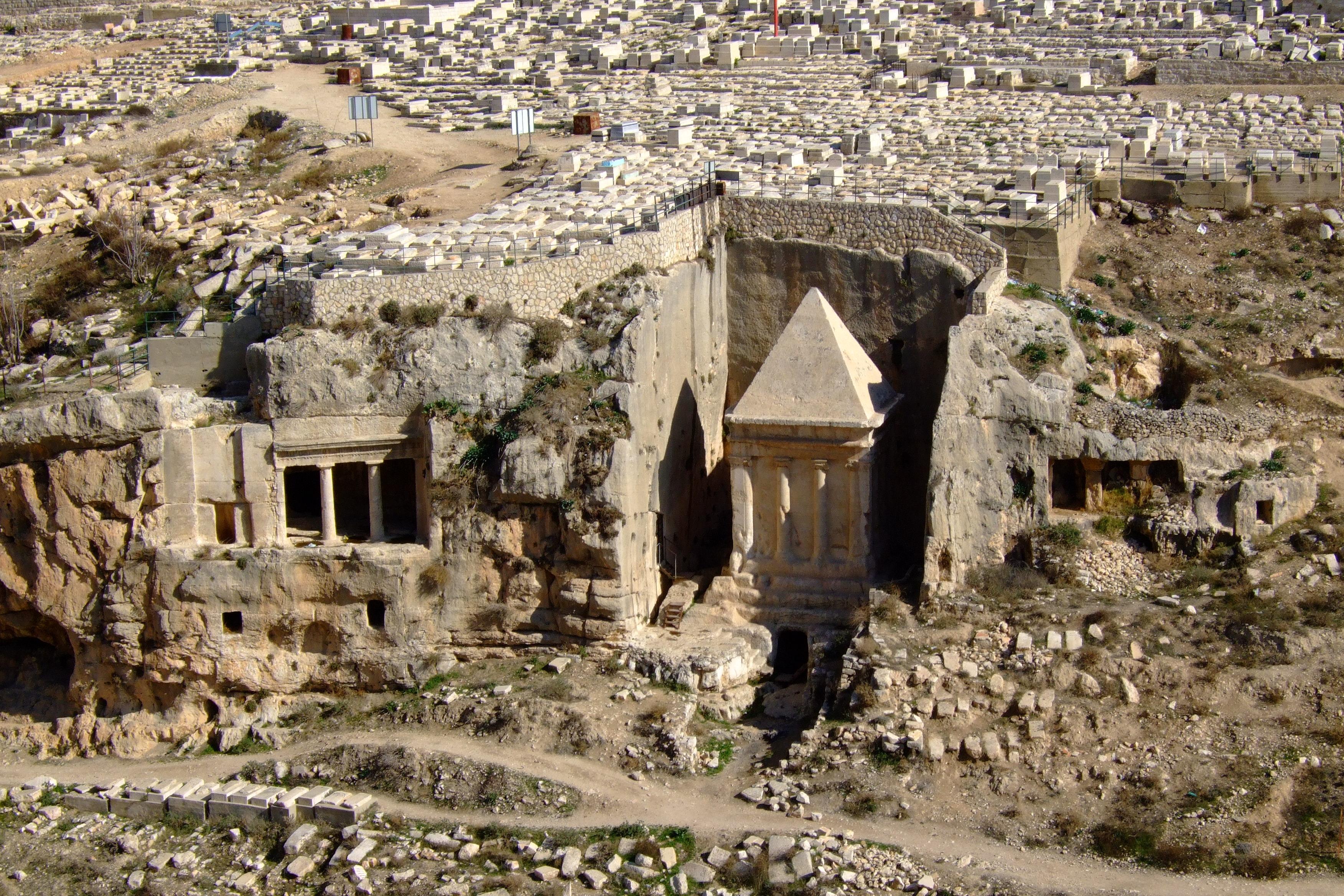 Luca Errera, Daniela Trastulli, Israele, Gerusalemme, tombe dei profeti, tomba Zaccaria